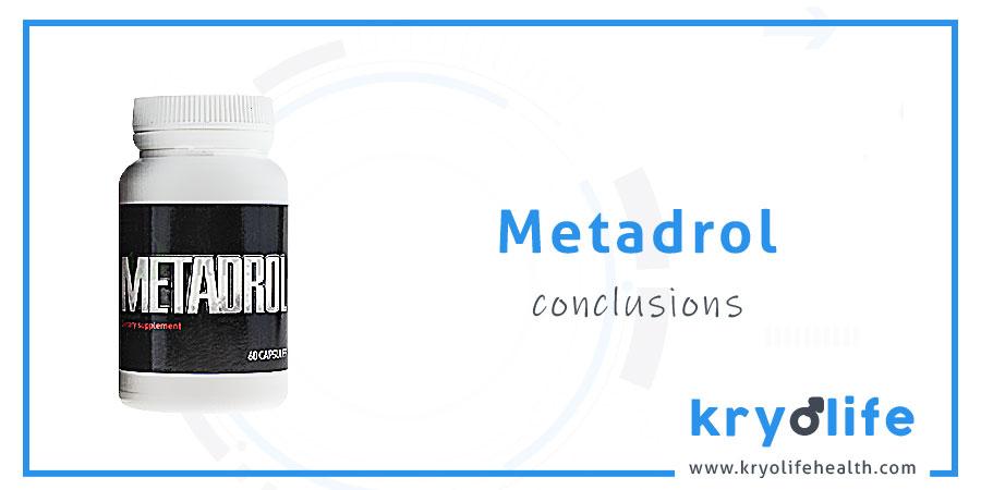 Avis sur le Metadrol : Conclusions