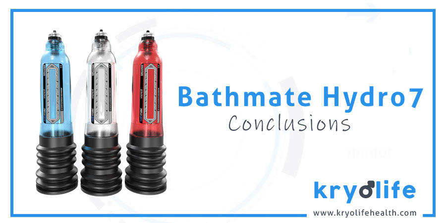 Bathmate Hydro7 review: conclusions