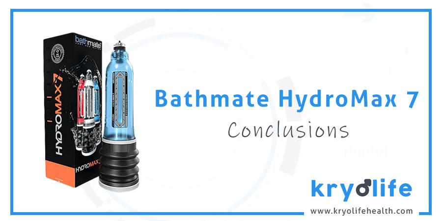 Bathmate Hydromax7 review: conclusions