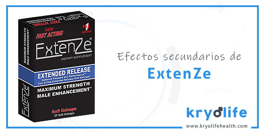 Efectos secundarios de ExtenZe