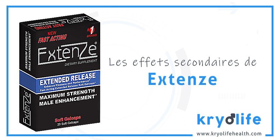 Les effets secondaires d'ExtenZe