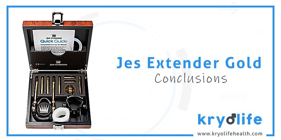 Jes Extender Gold review: conclusions