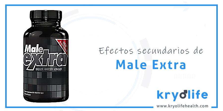 Efectos secundarios de Male Extra