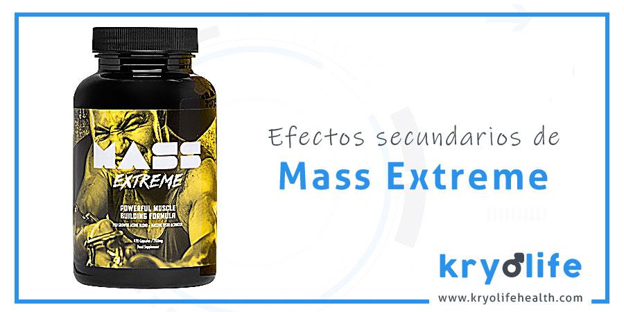 mass extreme efectos secundarios kryolife health