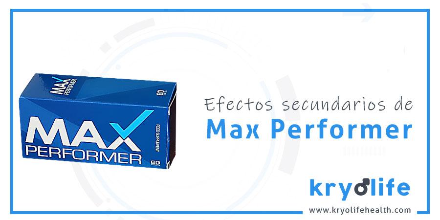 Efectos secundarios de Max Performer