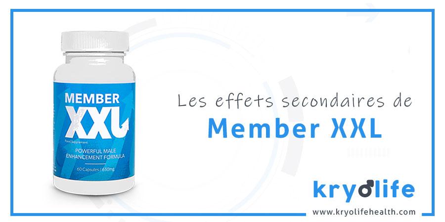 Les effets secondaires de Member XXL