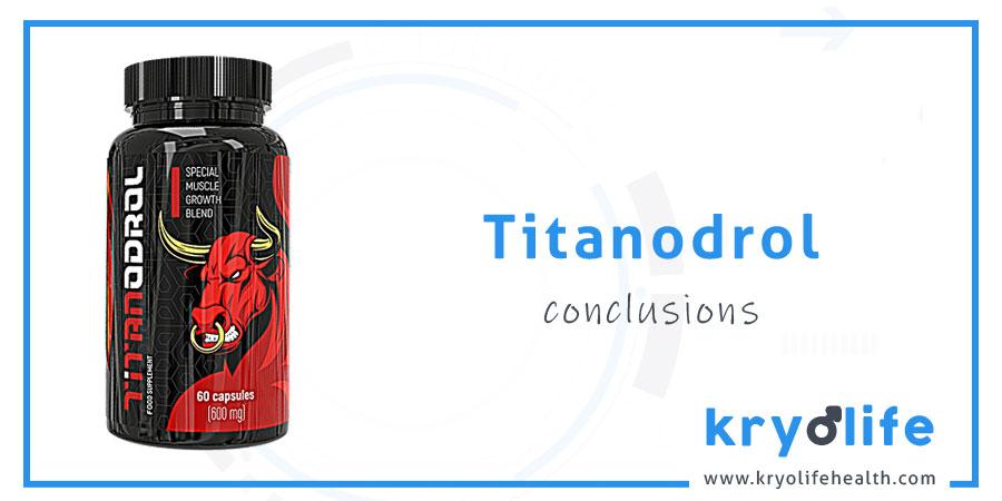 Avis sur le Titanodrol : Conclusions
