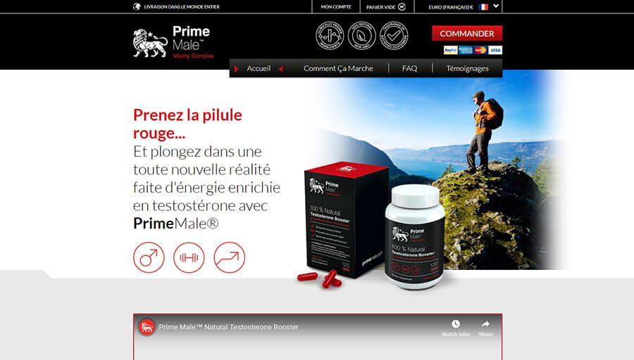 Prime Male Official Website