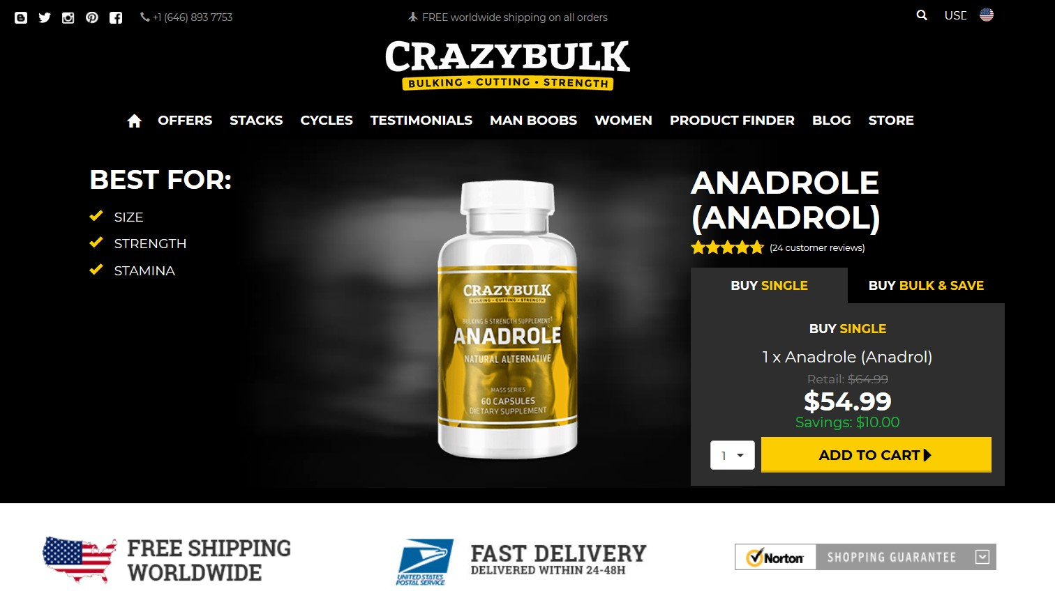 Anadrole Crazy Bulk official website