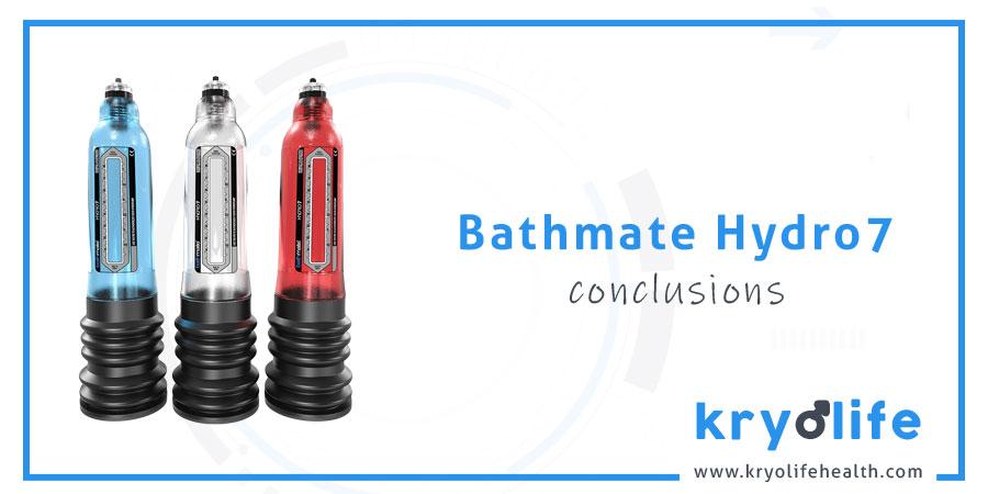Avis sur Bathmate Hydro7 : Conclusions