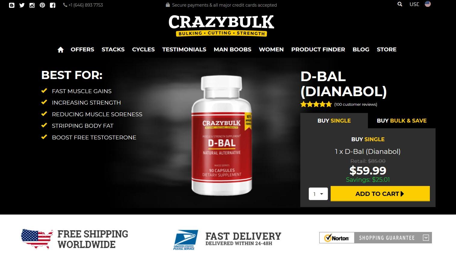 D-Bal Crazy Bulk official website