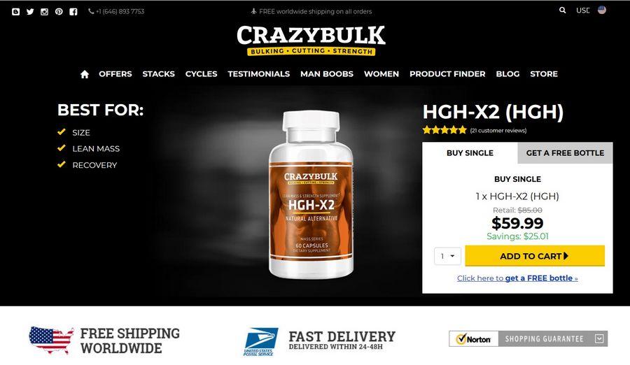 HGH-X2 official website