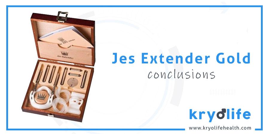 Avis sur Jes Extender Gold : Conclusions