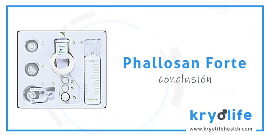 Opinión sobre Phallosan Forte: conclusión
