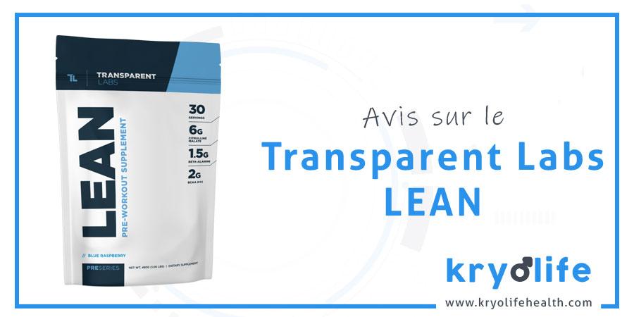 Transparent Labs Lean avis