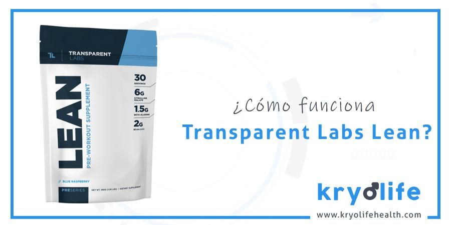 Cómo funciona Transparent Labs Lean