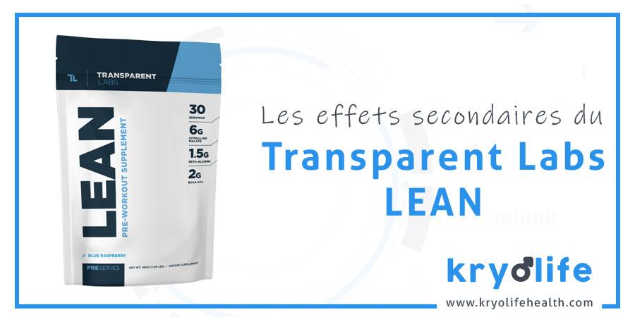 Les effets secondaires de Transparent Labs Lean