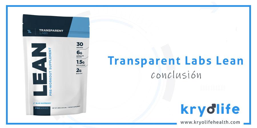 Opinión sobre Transparent Labs Lean: conclusiones