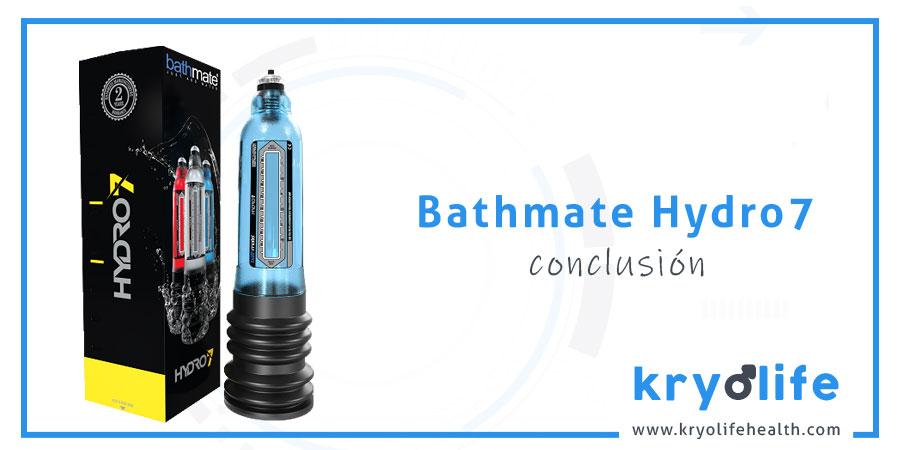 Opinión sobre Bathmate Hydro7: conclusiones