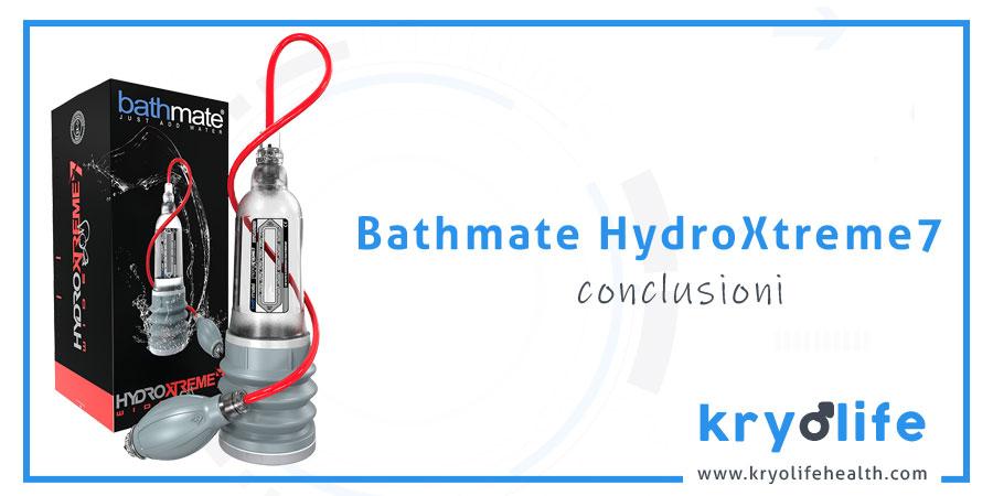 Recensione di Bathmate HydroXtreme7: conclusioni